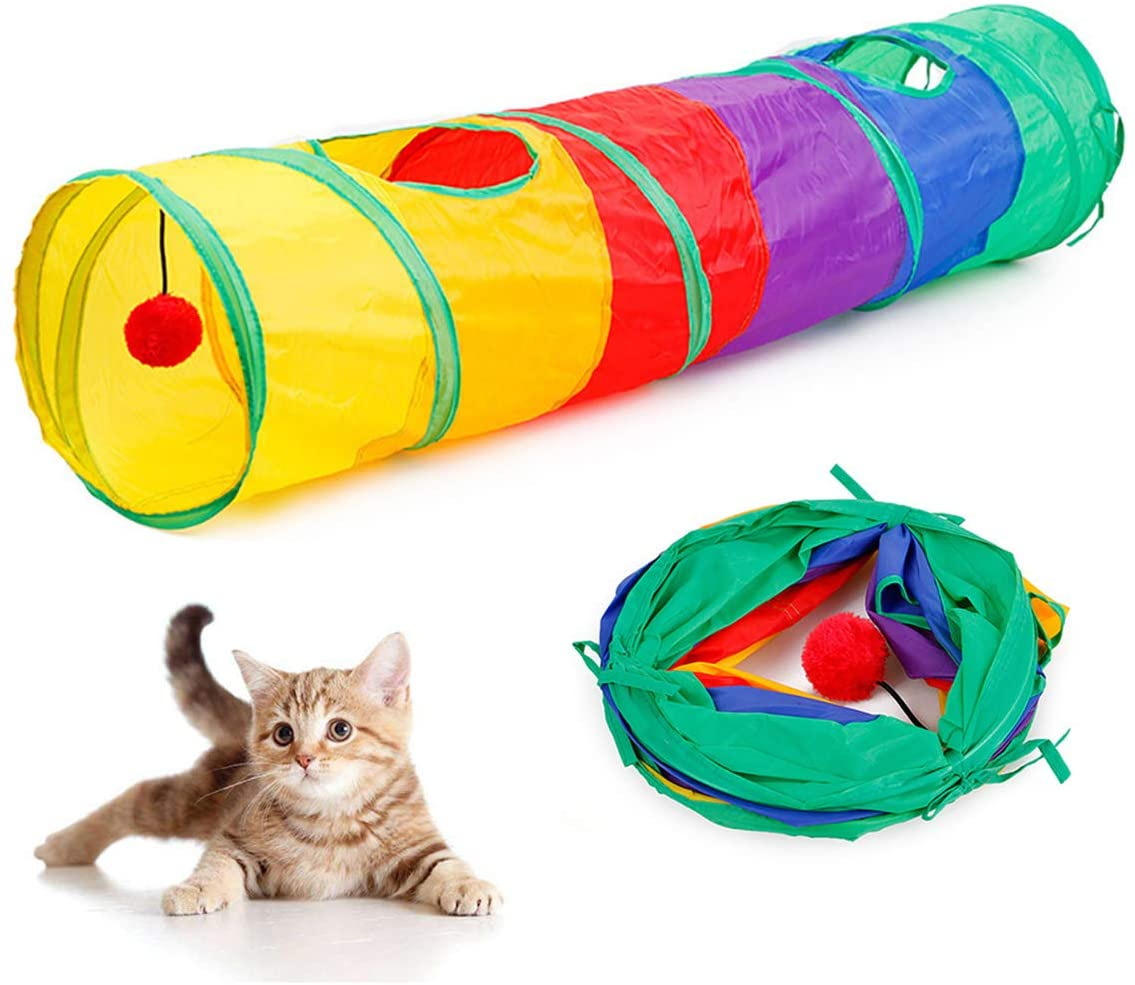 nyCat Tunnel with a plush ball